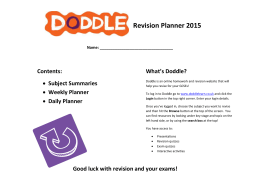 Doddle Revision Planner