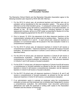 Letter of Agreement - TPEP Transition