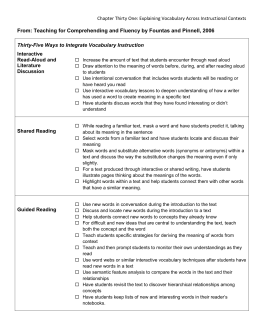 35 Ways to Integrate Vocabulary Instruction