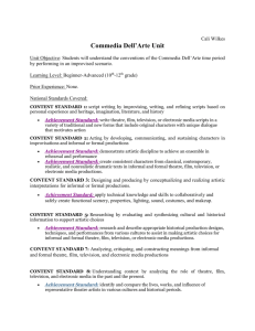 Commedia Dell`Arte Unit of Lessons.Cali Wilkes