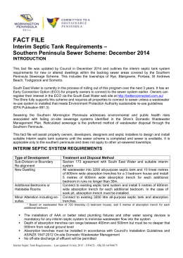 Interim Septic Requirements - Mornington Peninsula Shire