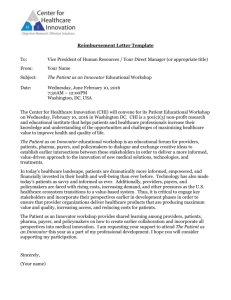 Educational Workshop Reimbursement Letter