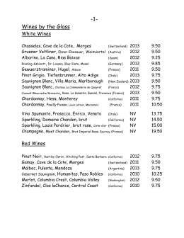 wine_list - The Matterhorn