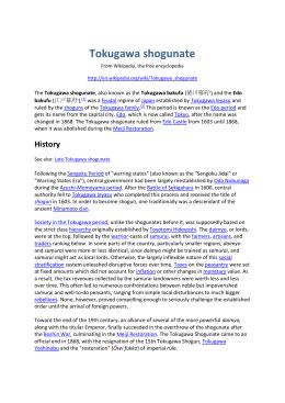 decline of tokugawa shogunate pdf