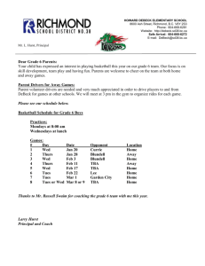Grade 6 Boys Basketball Schedule