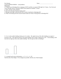 13 Law Of Sine And Cosine Word Problem Practice Quiz
