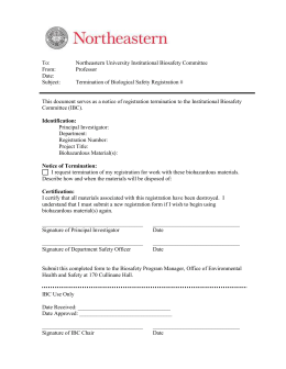 Biosafety Registration Termination Form