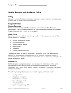 7.1 Safety Records and Statistics Policy
