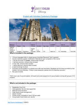 Stafford House English with Activities Canterbury Package