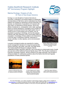 Ecology - Hubbs-Sea World Research Institute