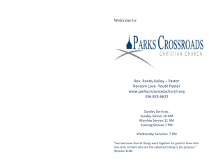 July 14, 2013 - Parks Crossroads Christian Church