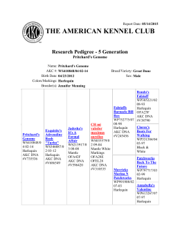 THE AMERICAN KENNEL CLUB Research Pedigree