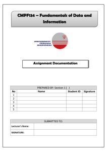 CMPF134 Assignment Documentation Template