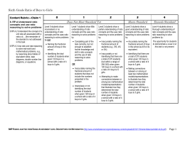 6th Grade Rubric - Washington State ESDs