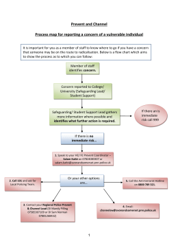 Prevent and Channel Procedure Flowchart