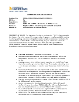 PROFESSIONAL POSITION DESCRIPTION Position Title