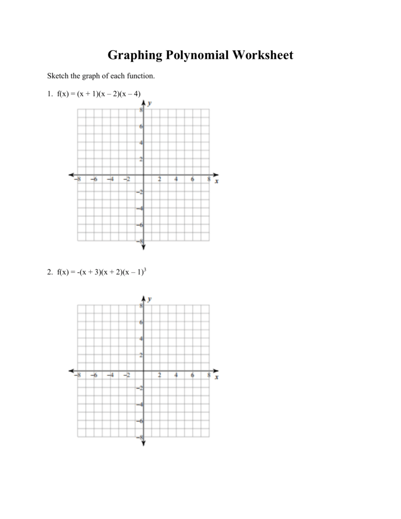 Graphing Polynomial Functions Packet