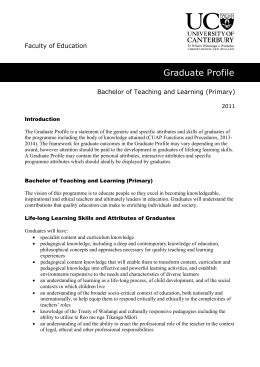 Bachelor of Teaching and Learning (Primary)