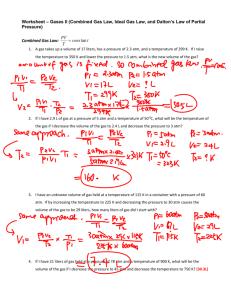 32 Ideal Gas Law Worksheet Answer Key - Free Worksheet ...