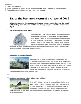 Six of the best architectural projects of 2012