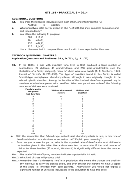 GTS 161 - PRACTICAL 3 – 2014 ADDITIONAL QUESTIONS A1. You