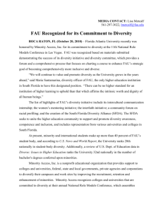 FAU Recognized for its Commitment to Diversity