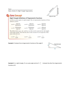 9.1: Right Triangle Trig