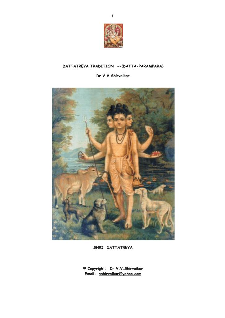 dattatreya tradition -- (datta-parampara)