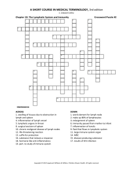 Crossword Puzzle #2 - Wolters Kluwer Health