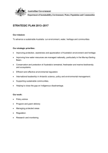 strategic plan 2013*2017 - Department of the Environment