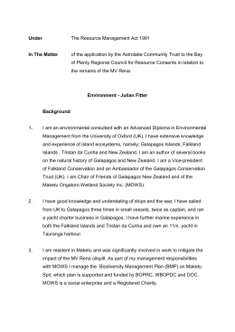 06.Statement.J.Fitter - Rena Resource Consent