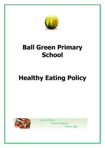 Food Healthy Eating Policy