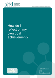 How do I reflect on my own goal achievement?