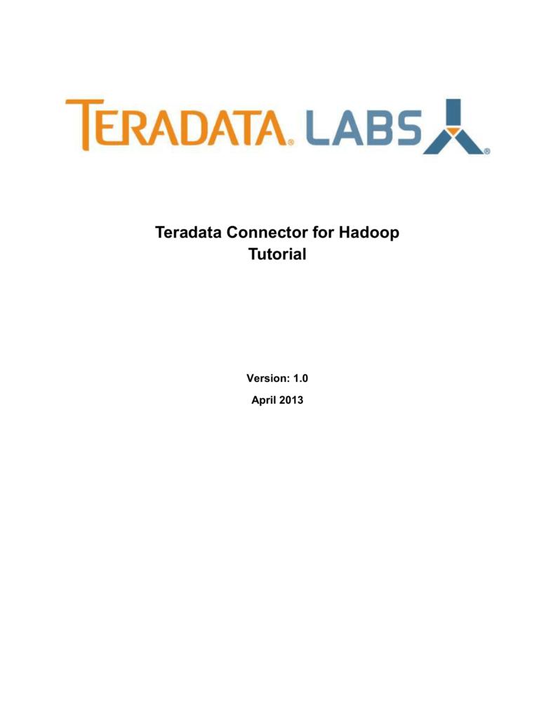 Teradata Connector for Hadoop