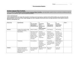 FLG Rubric for Presentations