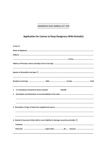 Keeping Dangerous Wild Animals Application Form