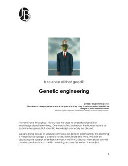 gattaca genetic engineering essay Gattaca essay gattaca essay the story of vincent shows in gattaca that there is possibility of beating the genetic engineering system.