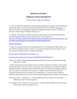 References and Notes Indigenous Literacy Development