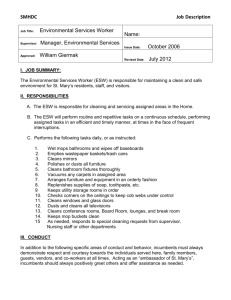 Environmental Services Worker
