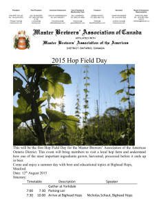 MBAC 2015 Hop Field Day - the Master Brewers Association of