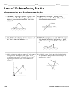 hw complementarry supplementary angles problem