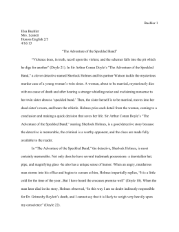 Sample Lit. Essay - West Branch Schools