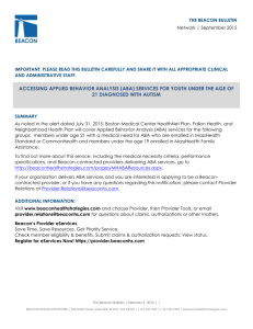 Accessing ABA Services Bulletin