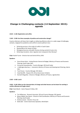 Change in Challenging contexts