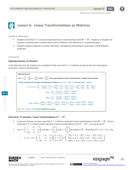Linear Transformations Review