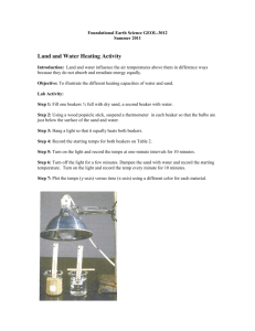 Land and Water Heating Activity