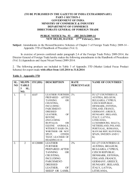 Public Notice No. 53 (RE-2013) - Directorate General of Foreign Trade