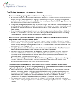 NH Key Messages - NHDOE Smarter Balanced Assessment Portal