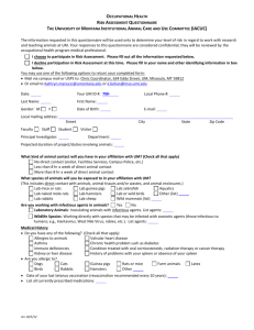 OH&S risk assessment form