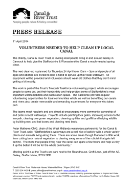 Press Release - Canal & River Trust
